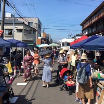 イベントレポート☆沼垂テラス商店街「朝市」8月