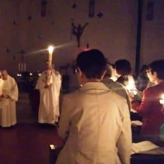 復活の聖なる徹夜祭・・・『この日が来ました。本当に嬉しい!』