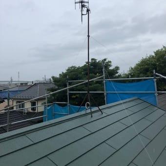 昨日も雨の中、アンテナ工事(良い子のみんなは真似しないでね)