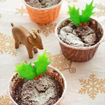 ホットケーキミックスで簡単♪ ガトーマジック カップケーキ ~クリスマスバージョン~