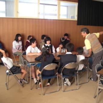 上北山小学校の耐震出前授業
