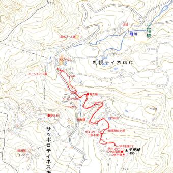 千尺峰495m峰のGPSトラック