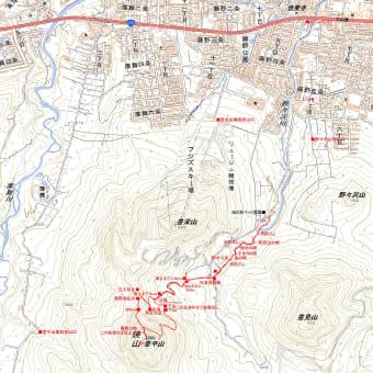 豊平山のGPSトラック
