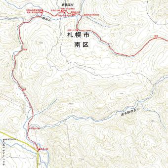 奥手稲西峰のGPSトラック