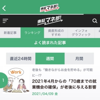 【取材記事アップ】(東証マネ部)2021年4月からの「70歳までの就業機会の確保」が老後に与える影響