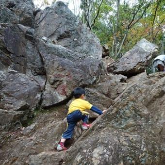 日和田山の岩登り