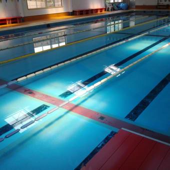 プールの端に潜って25m先の壁がはっきり見えます!!!