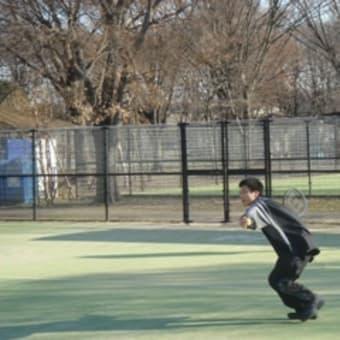 テニスやりました。
