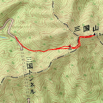 三国山のGPSトラック