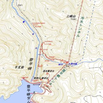 豊平峡渓谷展望台・見晴らし展望台・遊歩道跡のGPSトラック