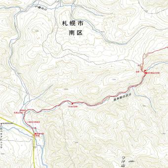 奥手稲山のGPSトラック