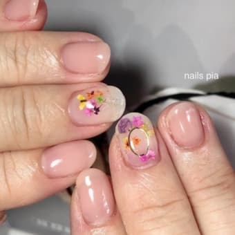 押し花ネイル