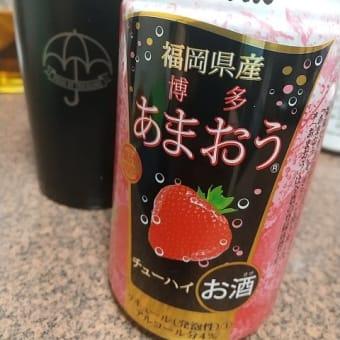 福岡県産博多あまおうチューハイで祝杯