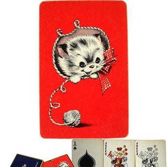 猫のヴィンテージ・トランプ(ダブル・デック)10