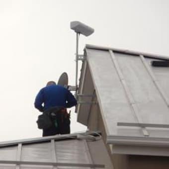 今日のエアコン、アンテナ工事