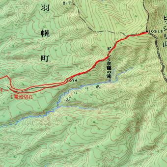 ピッシリ山のGPSトラック