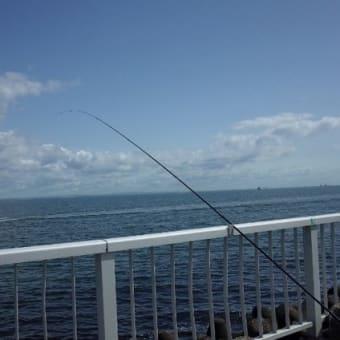 海と釣り竿