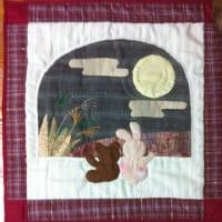 月見タペストリー