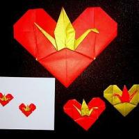 折紙「鶴付 ❤」