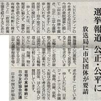 選挙報道 公正・公平に/放送局に市民団体が要請・・・今日の赤旗記事
