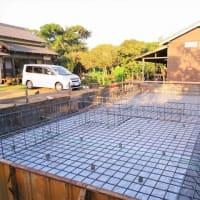 いすみ市日在『 Kさんファミリーの土間の家 』⌂Made in 外房の家。は、無事に基礎配筋工事完了!!&来週火曜日にコンクリート打設予定となりました。