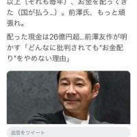 前澤友作氏の心意気と、クレクレ藤田孝典氏のダサさ
