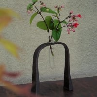 秋の枝と新作花器