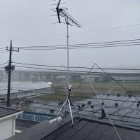 今日は台風か!!アンテナ工事