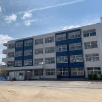 東本建設が元請施工致しました、  【赤磐市立山陽東小学校 校舎体育館 非構造部材耐震補強工事】が完成致しました。ネオポリス