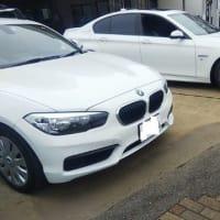 BMWアクティブハイブリッドのフロントスポイラー取り付け