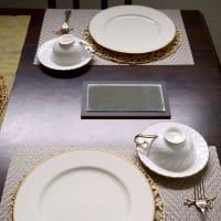 10月リクエストメニュー マンデル・トルテのテーブル