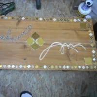 リメイクテーブルとクロダイの下地彫り