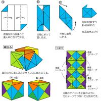 折り紙のおもしろキューブ
