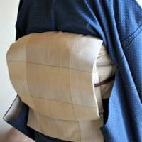 第5回紬塾  名古屋帯を締める―前柄、太鼓柄をよく見る