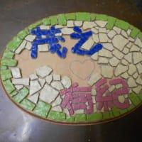 最近の生徒さん作品とカサブランカのモザイクのバック