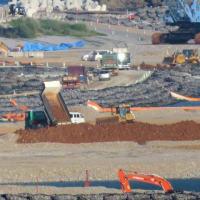 安和桟橋での土砂積み込み阻止と辺野古での土砂投入