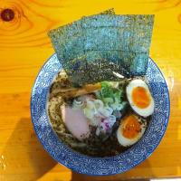 ハーブとトリュフオイル香る塩とんこつらぁ麺+半熟味付玉子@らぁ麺 大和 金沢本店
