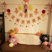 我が家のかわいい初孫がやっと1年目の誕生日を迎えられて感激・・・
