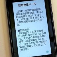 新潟で地震がおきた日。