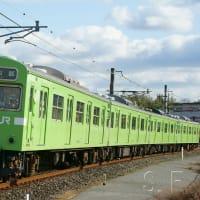 2019年2月12日 奈良線 棚倉 103系216編成 43A運用