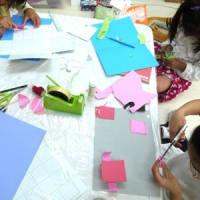 小2の女の子たちのレッスンで  (工作と算数の世界のつながり)