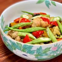 鶏肉と夏野菜の揚げ浸し
