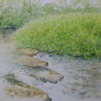 水彩お絵描き思い出めくり№218「佐波の流れ」