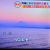5/25 昨日の夕方 海も富士山も美しい