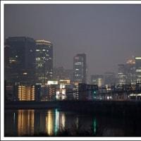 淀川堤防の夕景