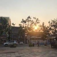 ナコンパノムの夕日を無理やり撮る
