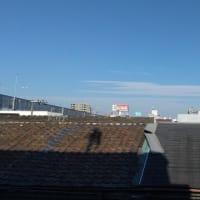しーらんでしーらんで。今朝東住吉区駒川上空けったいな雲が。どんなけったいなことが起こるのでしょうか。