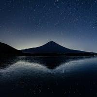 田貫湖から冬の星空