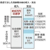 金融庁が報告書で示した高齢者夫婦の収入・支出