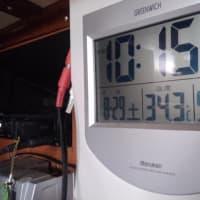 まだ暑いのでエアコン作動!しかし